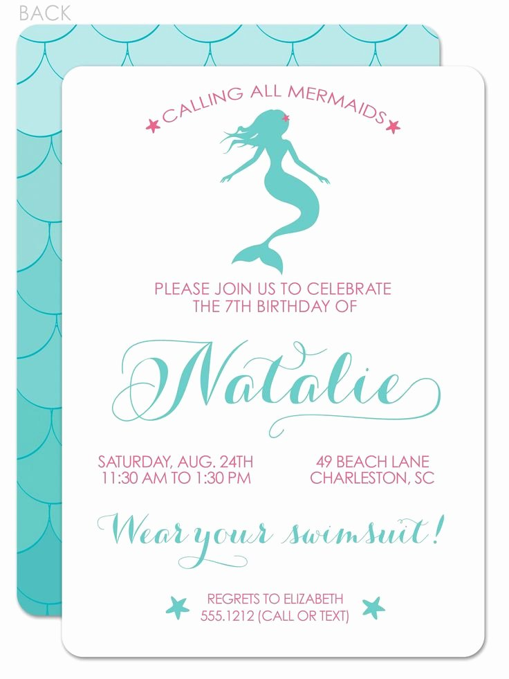 Free Mermaid Invitation Template Awesome 25 Best Ideas About Mermaid Party Invitations On