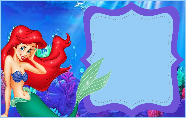Free Mermaid Invitation Template Awesome Little Mermaid Free Printable Invitation Templates