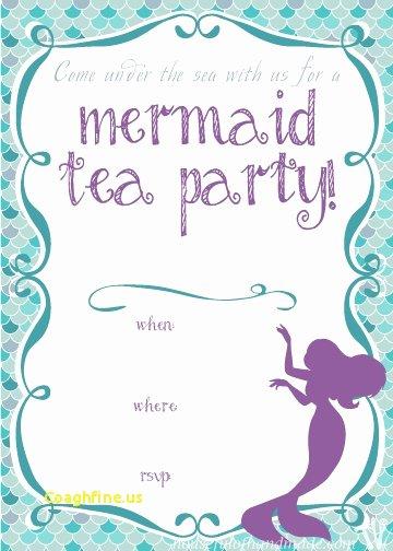 Free Mermaid Invitation Template Elegant Mermaid Invitation Template Negocioblog