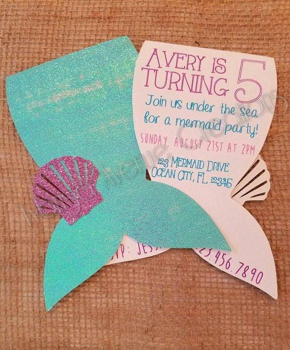 Free Mermaid Invitation Template Inspirational Best 25 Mermaid Invitations Ideas On Pinterest
