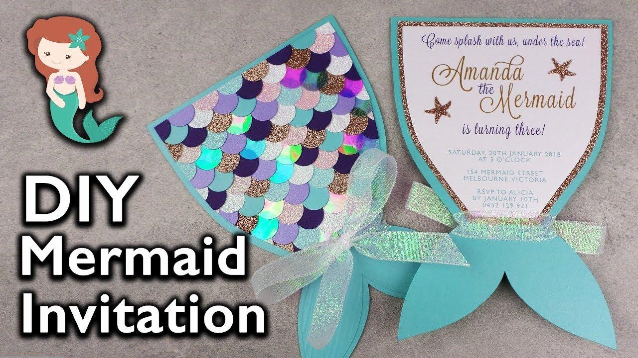 Free Mermaid Invitation Template Lovely Amazing Diy Mermaid Tail Invitation