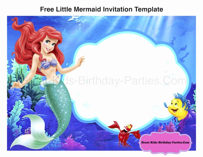 Free Mermaid Invitation Template Lovely Mermaid Tail Invitation Template Templates Resume