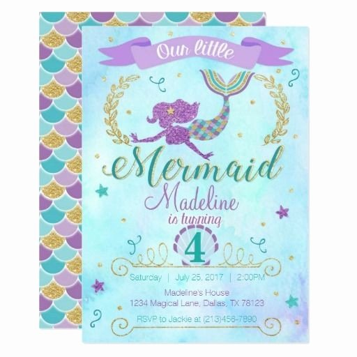 Free Mermaid Invitation Template Luxury 55 Amazing Free Printable Birthday Party Invitations Ideas