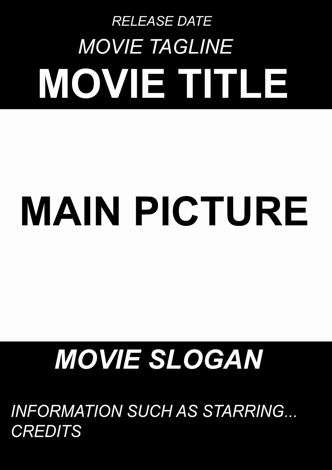 Free Movie Poster Template Awesome A2 Advanced Portfolio Ancillary Project Movie Poster