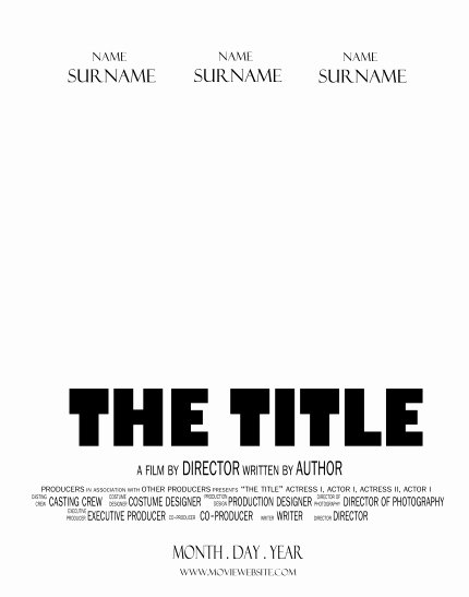 Free Movie Poster Template Elegant Movie Template