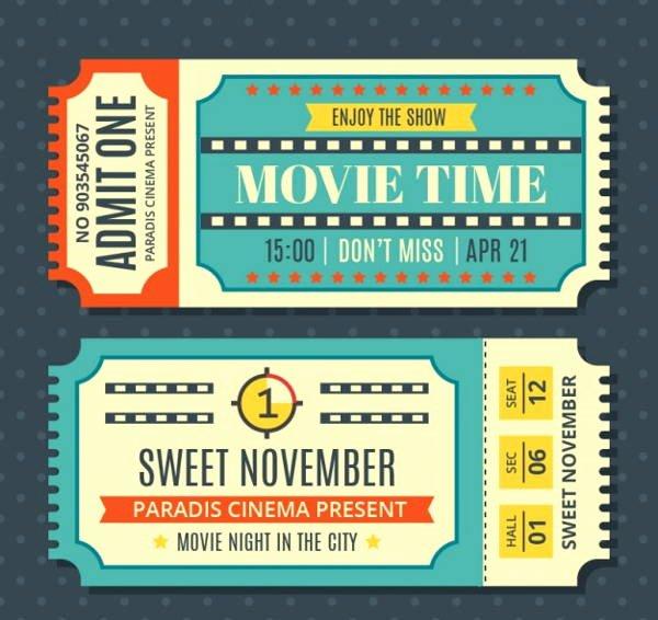 Free Movie Ticket Template Beautiful 12 Vintage Ticket Templates Psd Ai Word