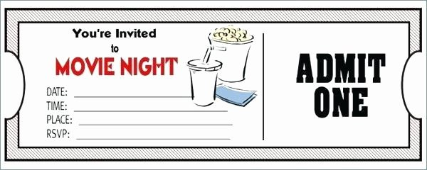 Free Movie Ticket Template Elegant Free Printable Movie Ticket Template Picture – 40 Free