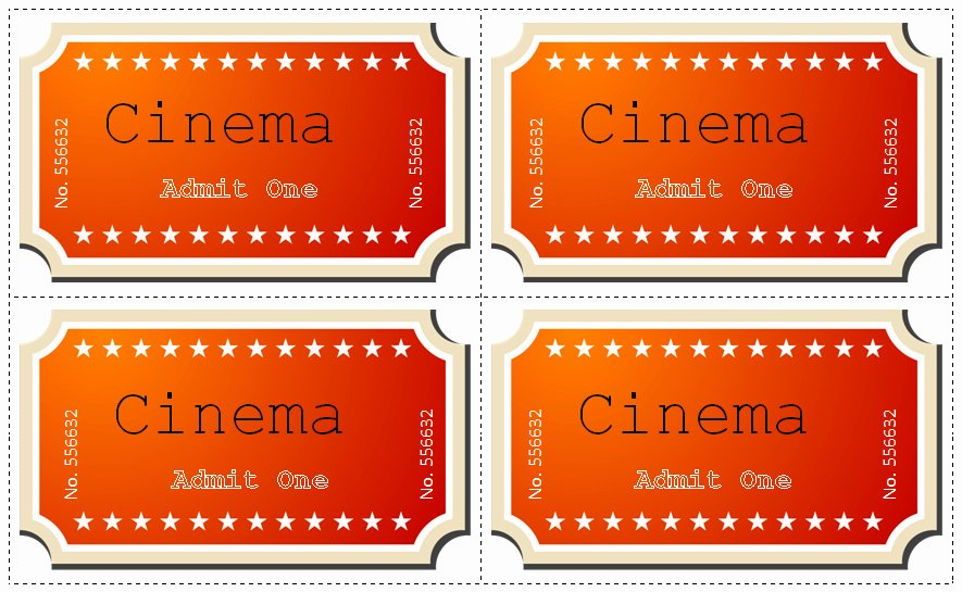 Free Movie Ticket Template Fresh 30 Free Movie Ticket Templates Printable Word formats