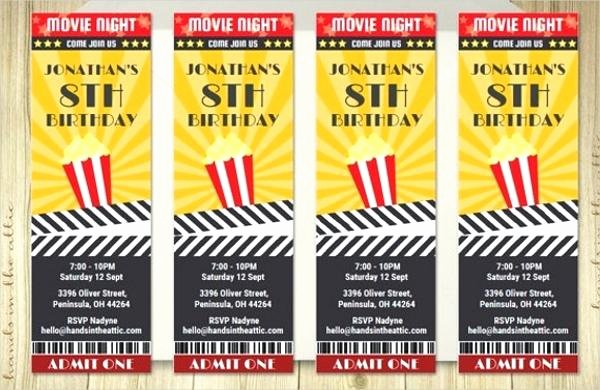 Free Movie Ticket Template Fresh Cinema Ticket Template Free Popcorn Box for A Better