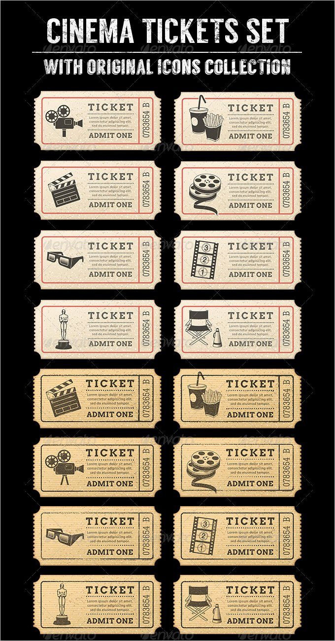 Free Movie Ticket Template Inspirational 16 Movie Ticket Templates Psd Ai Word