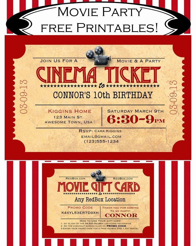 Free Movie Ticket Template Inspirational Like Mom and Apple Pie A Summer Movies Free Printables