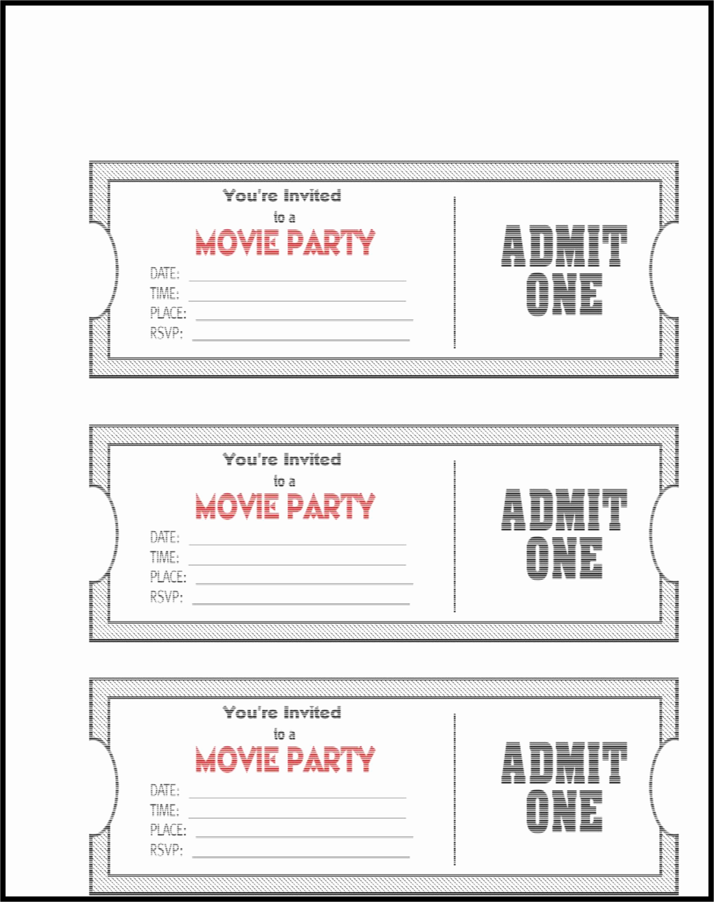 Free Movie Ticket Template Lovely Admit E Ticket Template Example Mughals