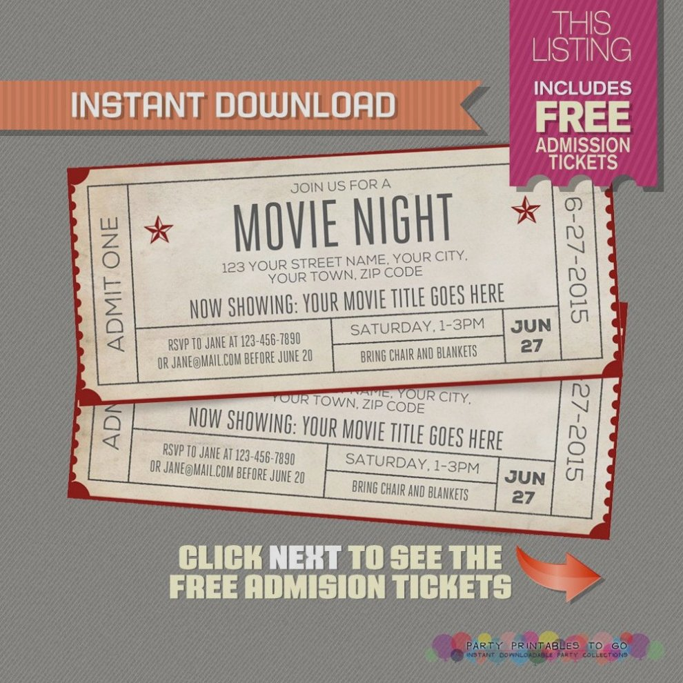 Free Movie Ticket Template Lovely Movie Ticket Template Free Download Boatjeremyeatonco