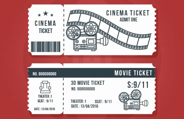 Free Movie Ticket Template Luxury 16 Free Ticket Design Templates for Download Designyep