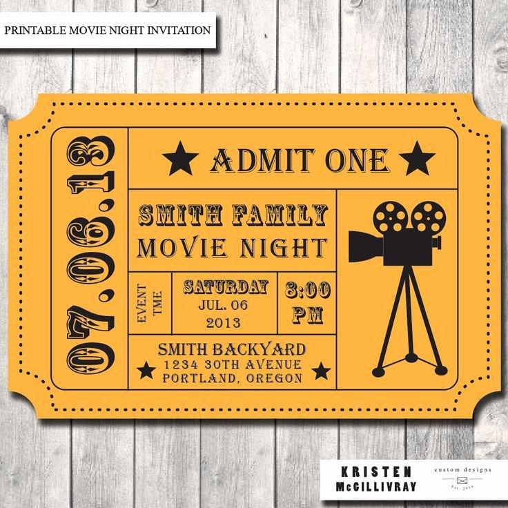 Free Movie Ticket Template Luxury Best 25 Movie Ticket Template Ideas On Pinterest