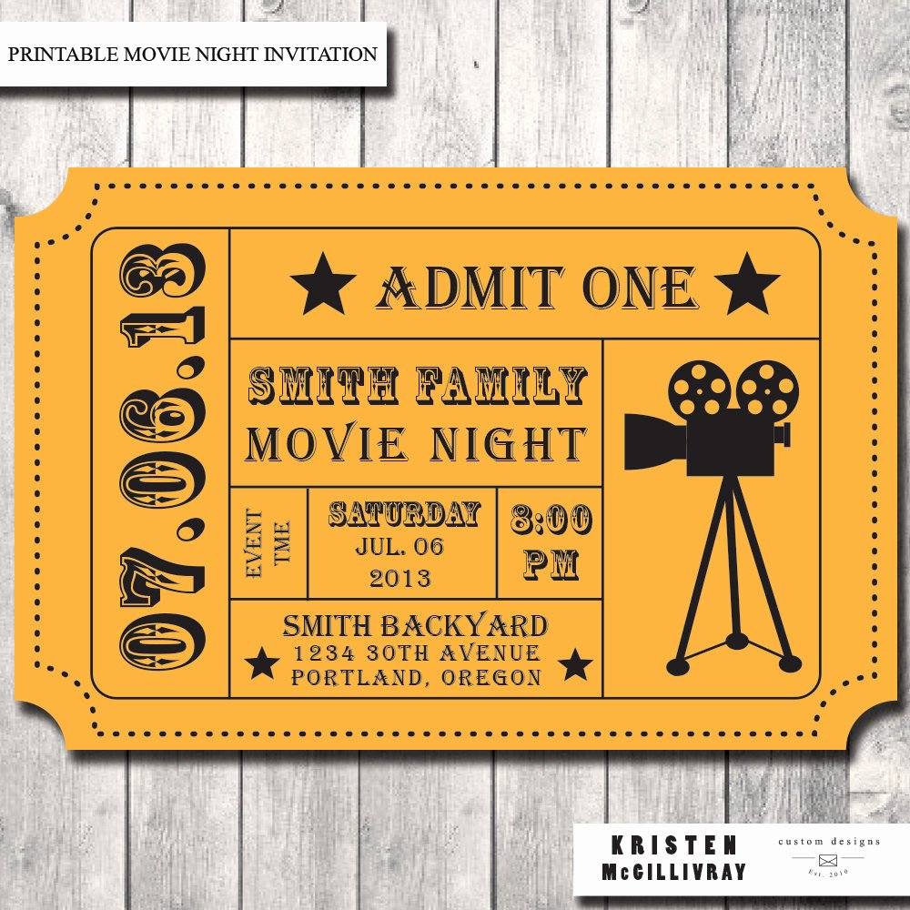 Free Movie Ticket Template Unique Movie Ticket Template