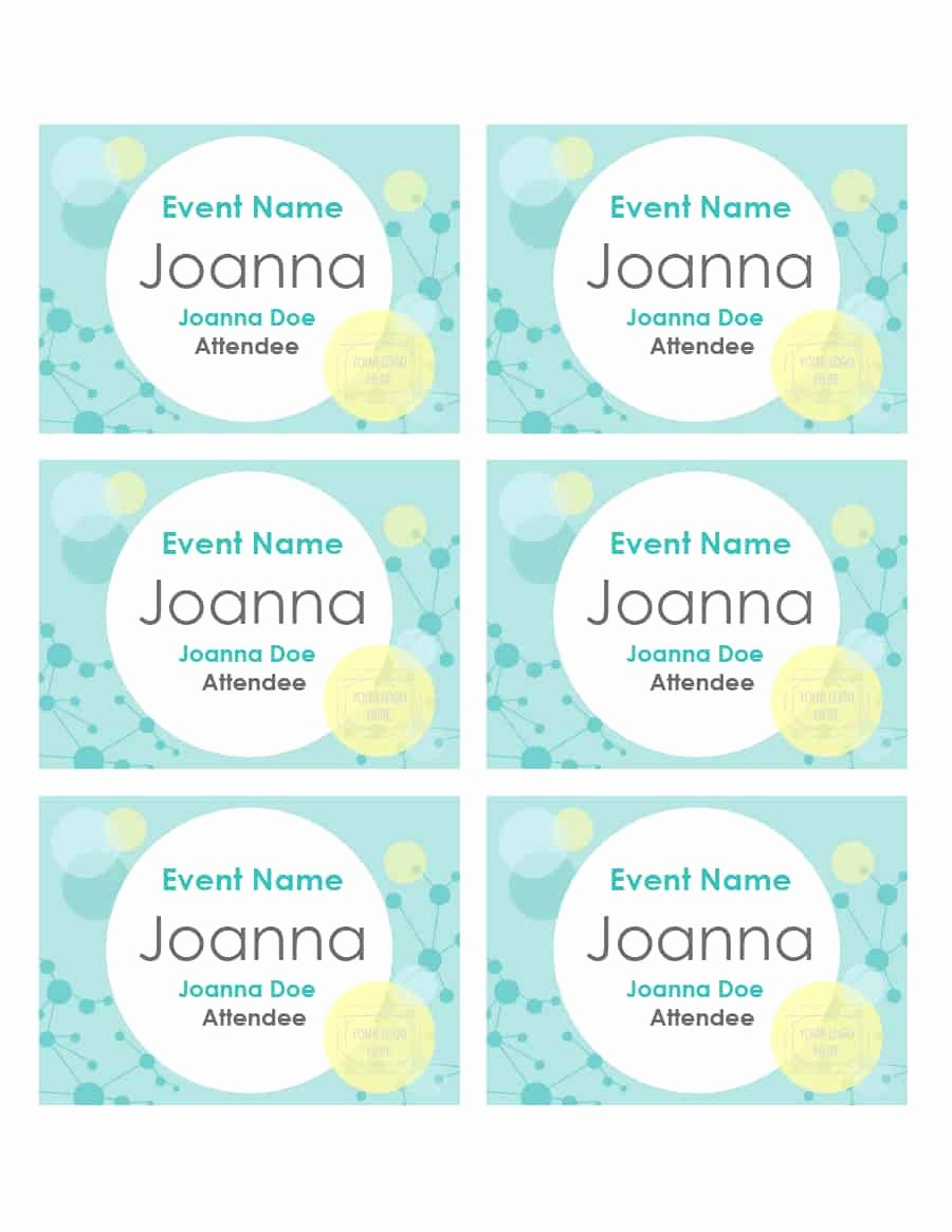 Free Name Badge Template Inspirational 47 Free Name Tag Badge Templates Template Lab