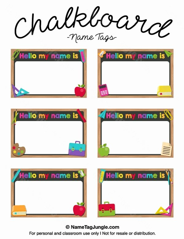 Free Name Tag Template Best Of Free Printable Chalkboard Name Tags the Template Can Also