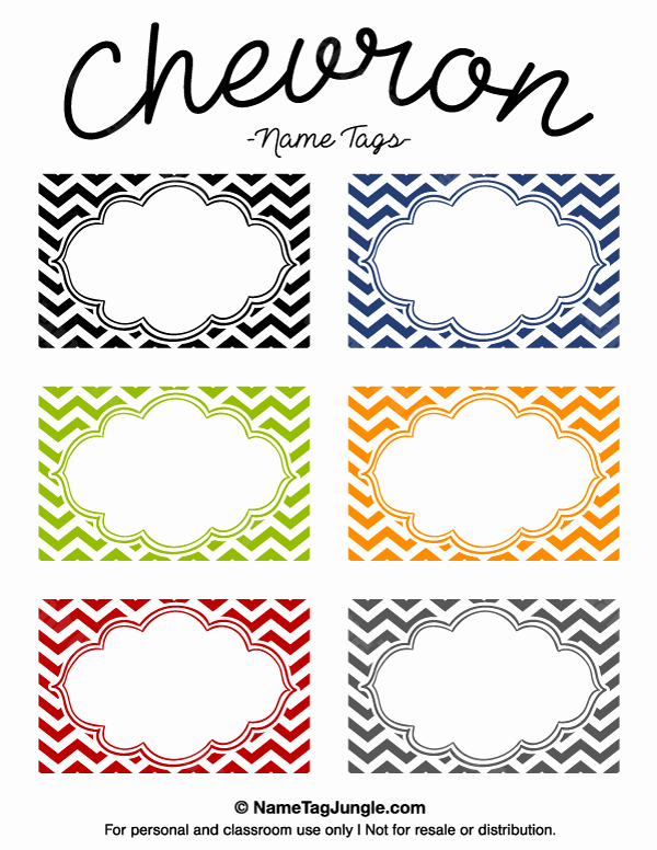Free Name Tag Template Best Of Printable Chevron Name Tags