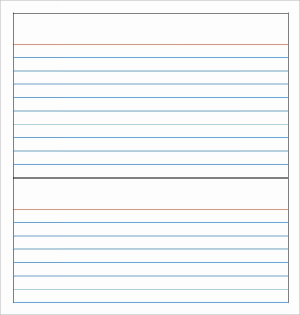 Free Note Card Template New Note Card Template 9 Download Free Documents In Pdf