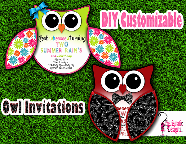Free Owl Invitation Template Awesome Free Diy Customizable Owl Invitation Printable Template On
