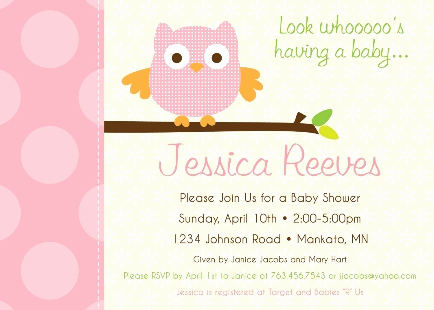 Free Owl Invitation Template Beautiful Owl Baby Shower Invitations Templates