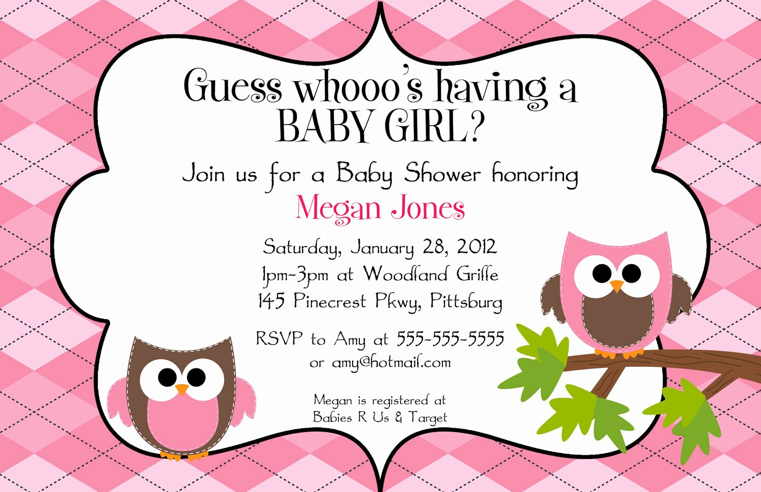Free Owl Invitation Template Best Of Argyle Owls Any Color Digital Baby Shower by Bdesigns4you