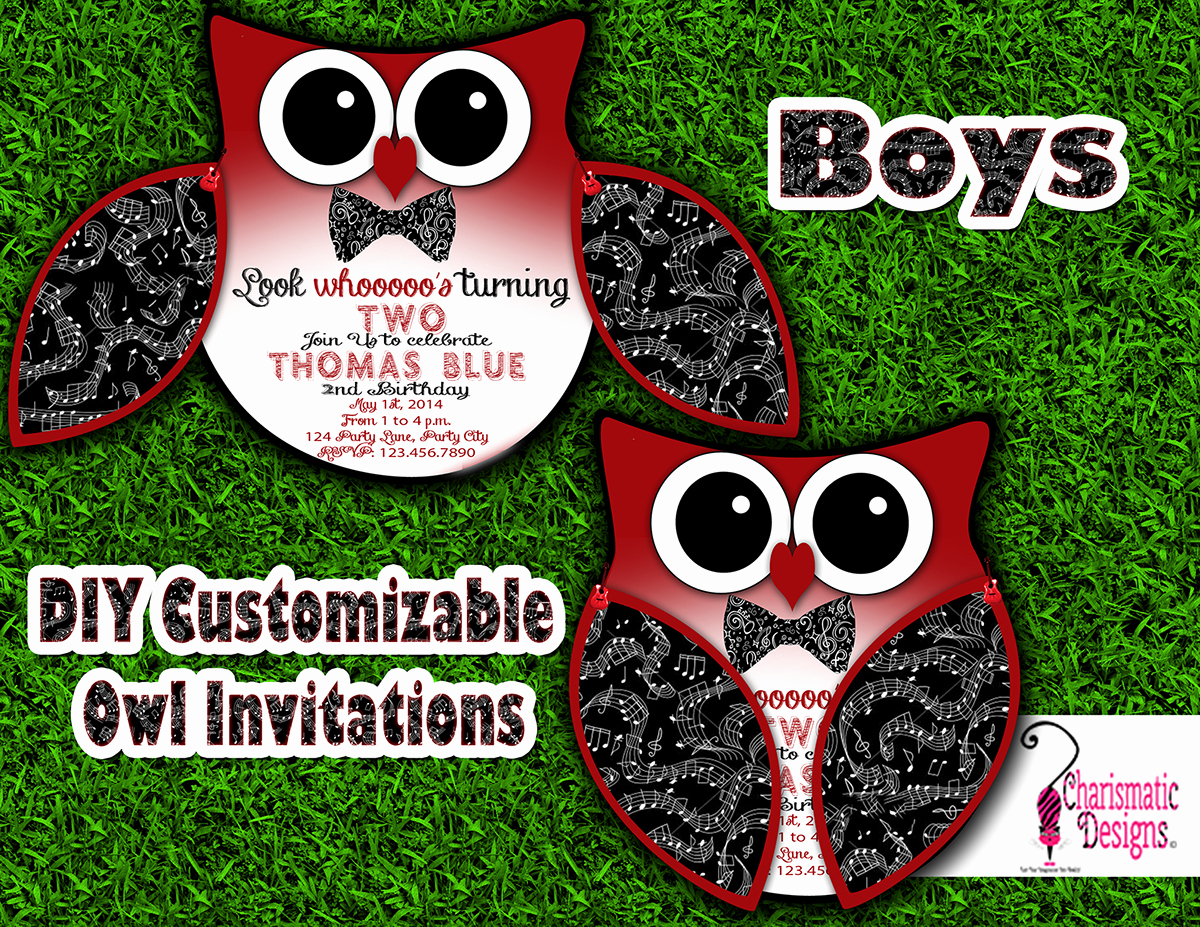 Free Owl Invitation Template Best Of Free Diy Customizable Owl Invitation Printable Template On
