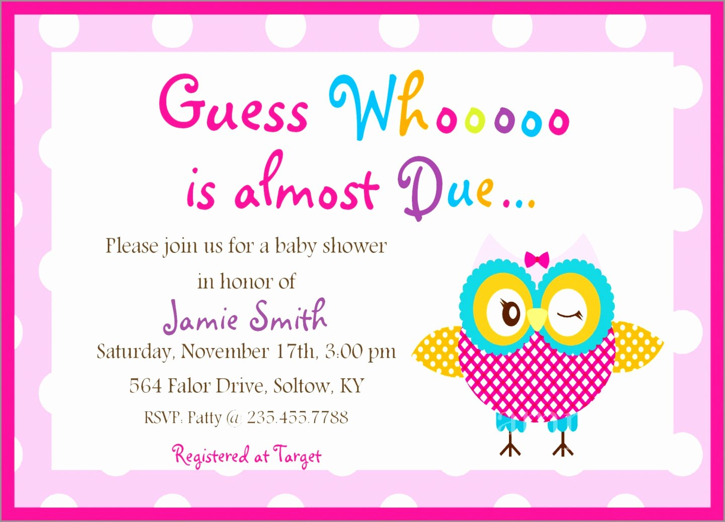 Free Owl Invitation Template Fresh 9 Free Owl Baby Shower Invitation Template