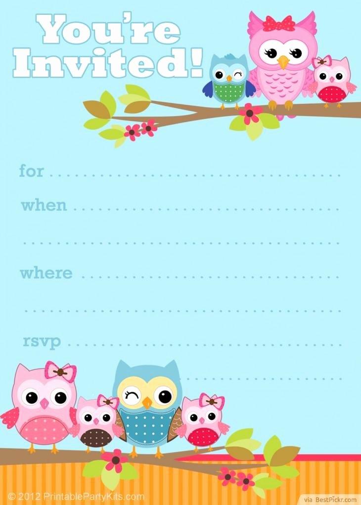 Free Owl Invitation Template Fresh Free Printable Owl Invitation Template
