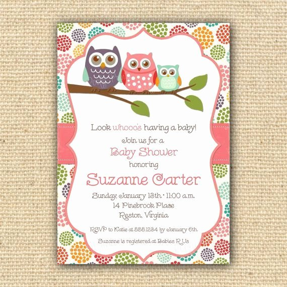 Free Owl Invitation Template Fresh Owl Invitation Template Printable