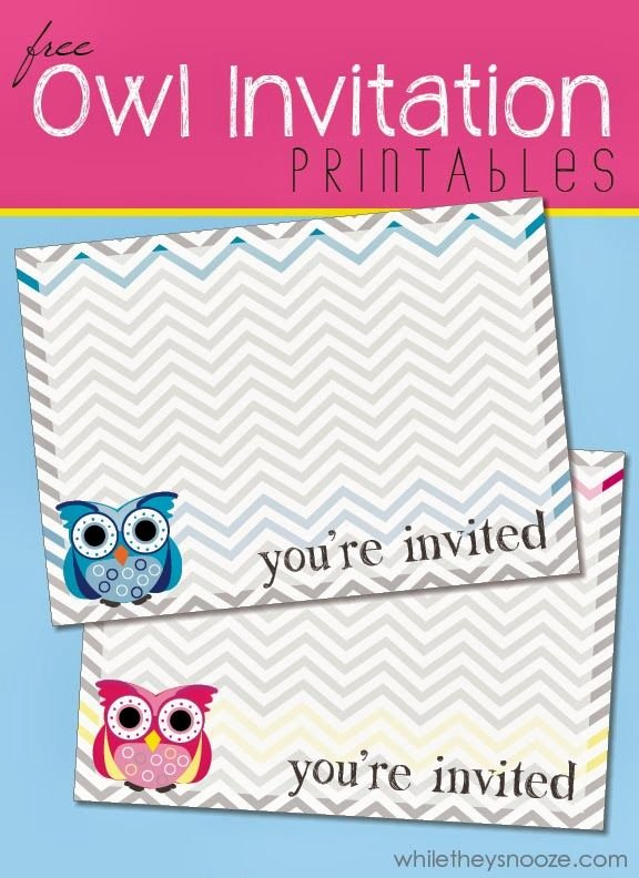Free Owl Invitation Template Lovely 17 Best Ideas About Owl Printable On Pinterest