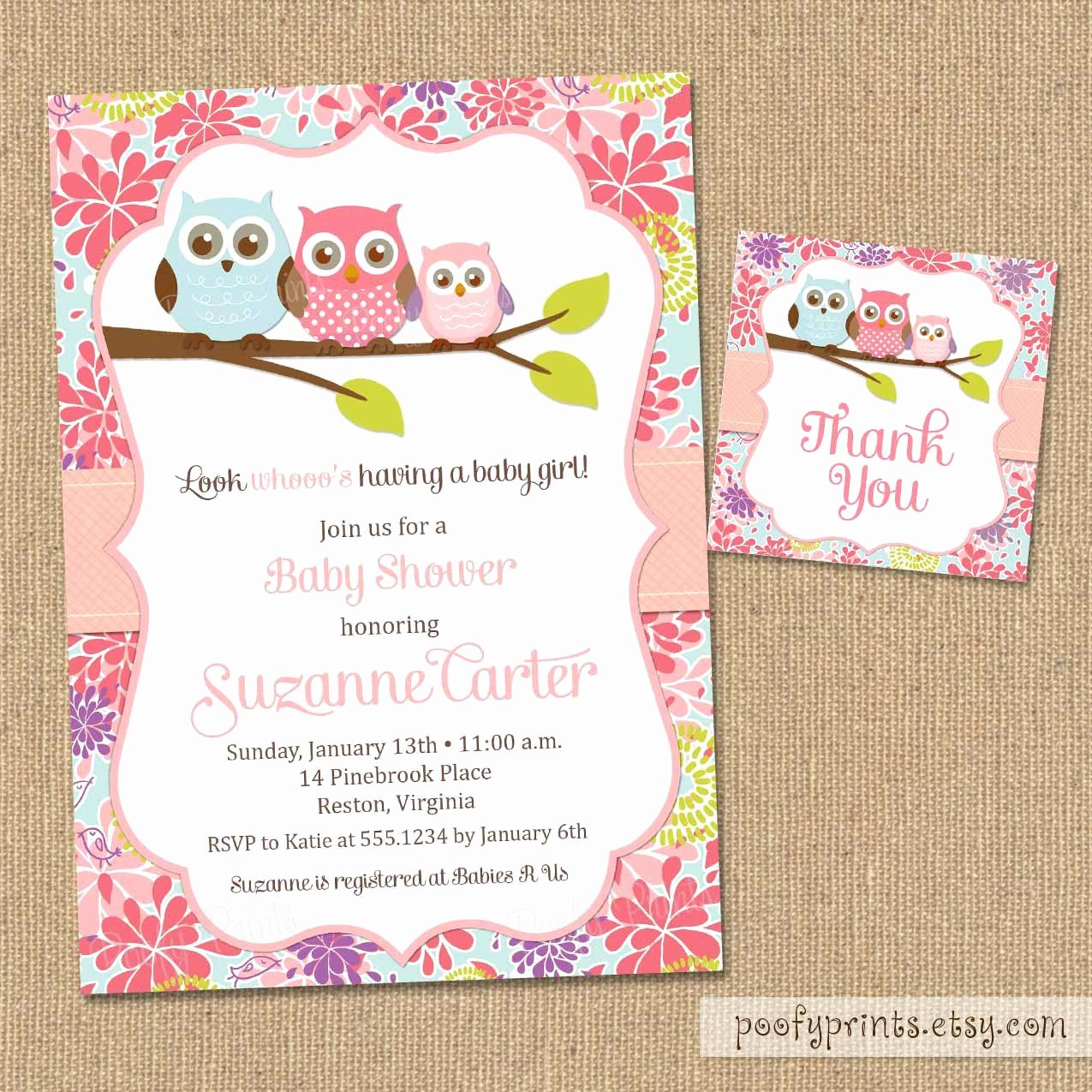 Free Owl Invitation Template Lovely Owl Baby Shower Invitations Diy Printable Baby by Poofyprints