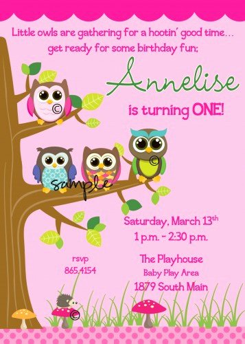 Free Owl Invitation Template Unique Owl 1st Birthday Invitations Template