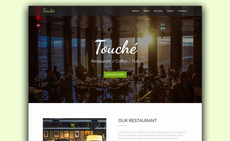 Free Parallax Website Template Elegant Free HTML Restaurant Website Template