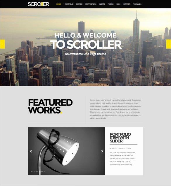 Free Parallax Website Template Inspirational 32 Parallax Website themes & Templates