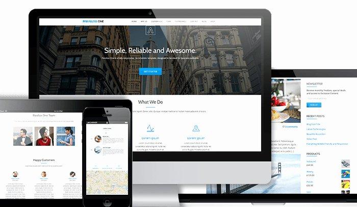 Free Parallax Website Template Inspirational 8 Free Parallax Wordpress Templates