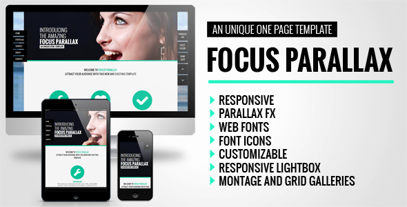 Free Parallax Website Template Inspirational Focus Parallax E Page HTML Template by Bobbydigitals