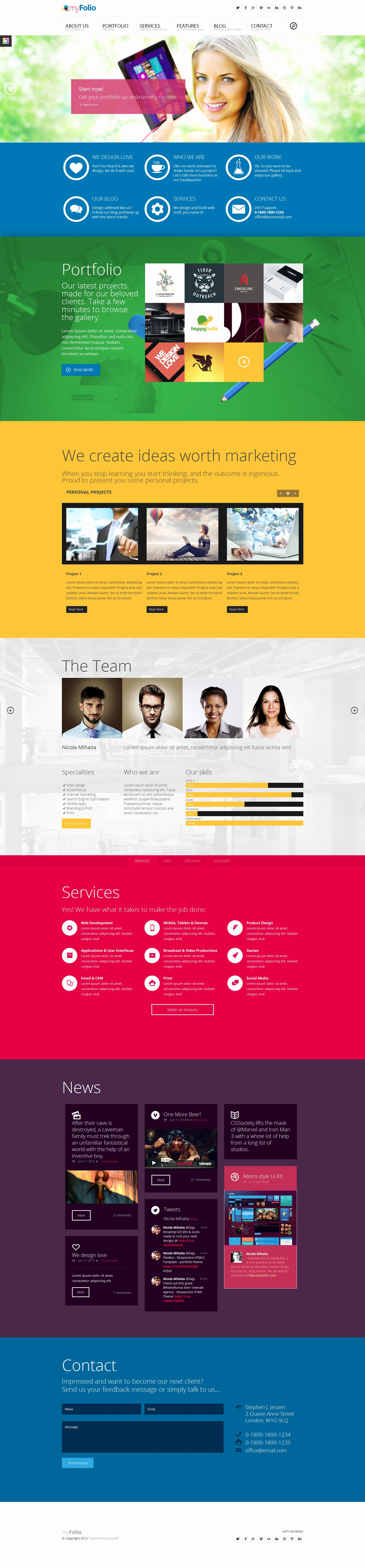 Free Parallax Website Template Inspirational Myfolio Parallax Epage HTML5 Template by Dajydesigns