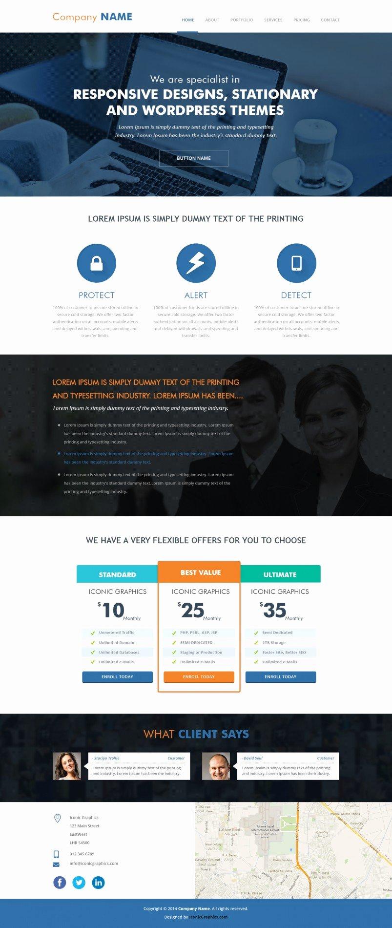 Free Parallax Website Template Inspirational Parallax Psd Template