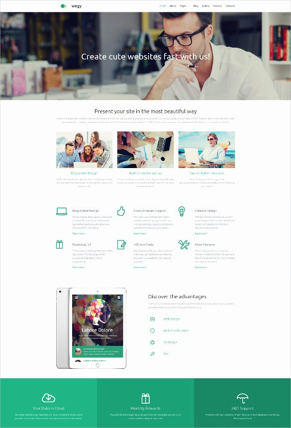 Free Parallax Website Template Luxury Responsive Parallax Website Template Popteenus