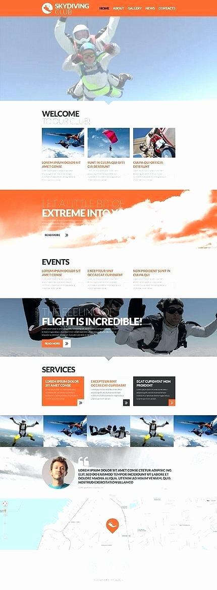 Free Parallax Website Template Luxury Template Surfing Club Responsive Website with Slider