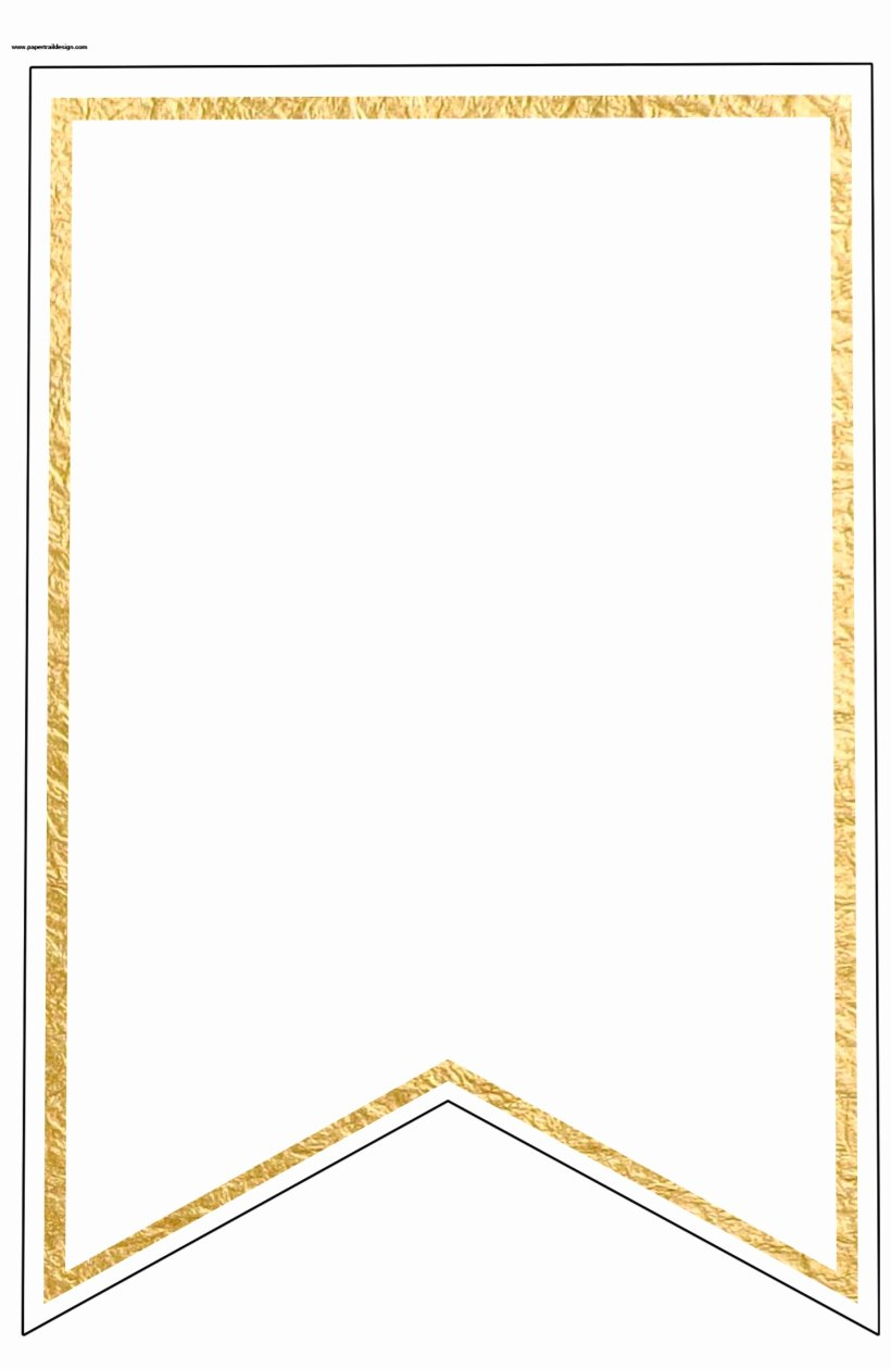Free Pennant Banner Template Best Of Gold Pennant Banner Blank Template Flag Banner Template