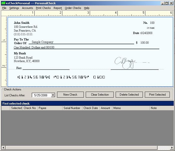 Free Personal Check Template Awesome Print Sample Blank Checks Bank Check Writing Template