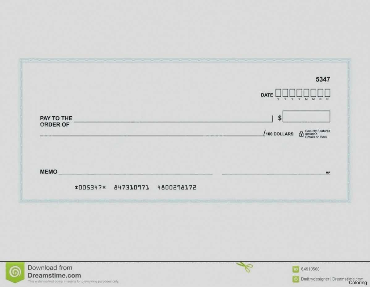 Free Personal Check Template Unique New Fillable Blank Check Template Word
