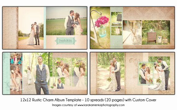 Free Photo Album Template Best Of Rustic Charm 12x12 Wedding Album Template 10 Spread