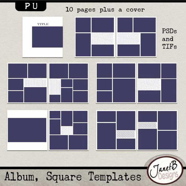 Free Photo Album Template Lovely Album Square Templates Pu Album Square Templates Pu