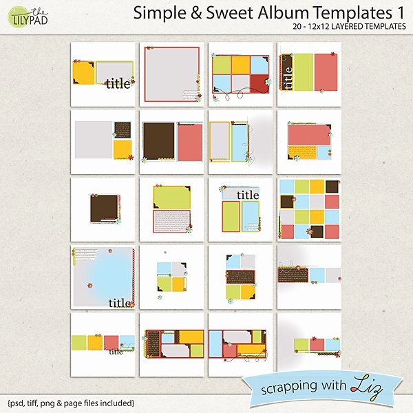 Free Photo Album Template Lovely Digital Scrapbook Template Simple & Sweet Album