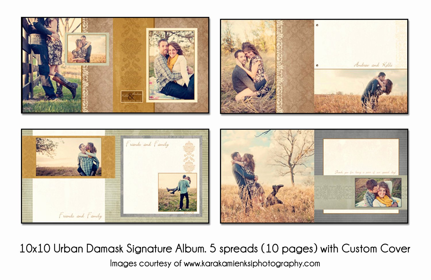 Free Photo Album Template Lovely Urban Damask 10x10 Digital Wedding Guest Book Template 5