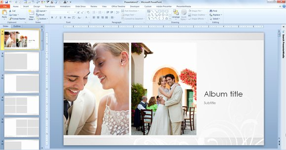 Free Photo Album Template New Free Wedding Album Template for Powerpoint 2013